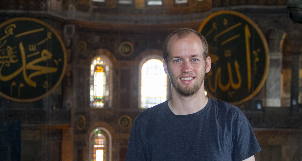 Me at the Hagia Sophia in Istanbul