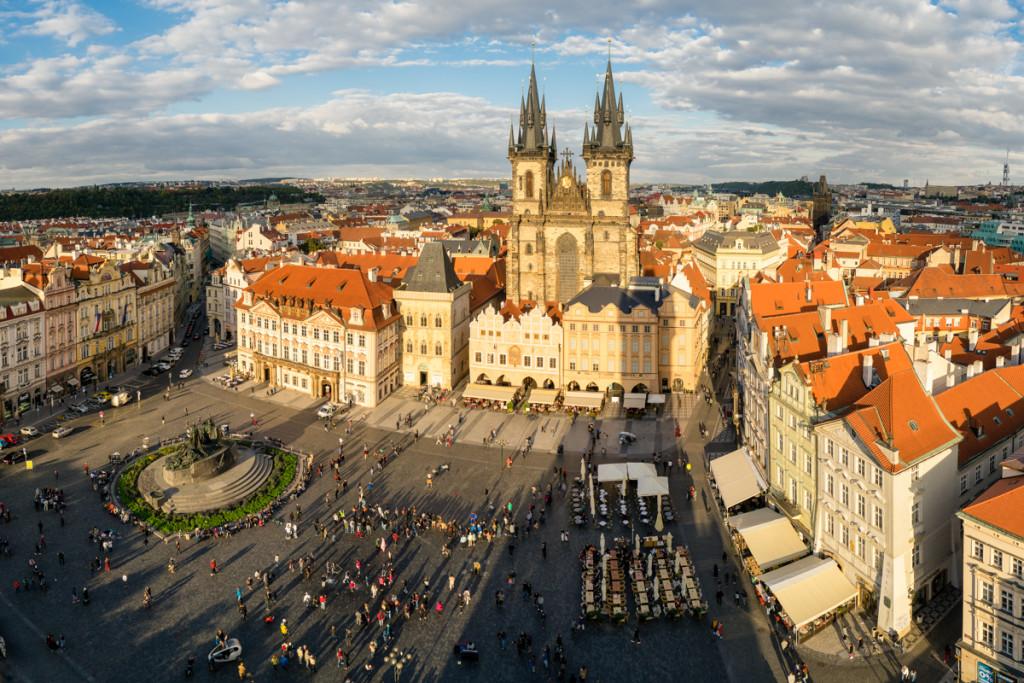 Prague downtown square