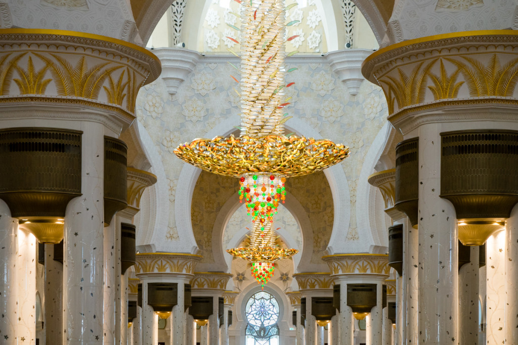 Grand Mosque chandelier, United Arab Emirates